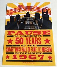 HATCH SHOW PRINT Nashville 50 Years Country Music Hall Of Fame And Museum Poster