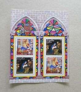 SPAIN + GERMANY 2001 SOUVENIR SHEET CHRISTMAS  1,76 €  facial value /Dm318