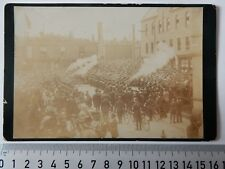 ANTIQUE CABINET CARD MILITARY SALUTE PARADE RICHARD WALKER SHOP? (19TH/OR(20TH