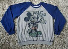 The Disney Store Sweatshirt Mickey Mouse Gray Blue Sweater Cartoon-  Size L