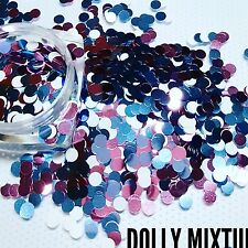 Nail glitter DOTS  DOLLY MIXTURE For acrylic or gel detail work