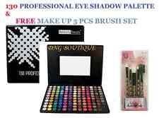 130 Color Eye shadow +FREE BRUSH SET Matte Shimmer PRO GLITTER Eyeshadow PALETTE