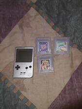 Nintendo Game Boy Pocket (Silver) with 3 games