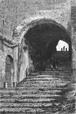 ROME. Vaulted Passage, Lucrezia Borgia's palace 1872 old antique print picture