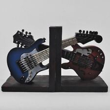 Guitar Shelf Tidy Book Ends Heavy Vintage Storage Retro Hipster Office