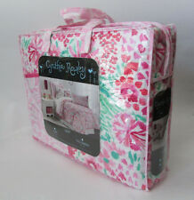 CYNTHIA ROWLEY Flowers Full/ Queen QUILT Pink Green Floral girls 100% COTTON NEW