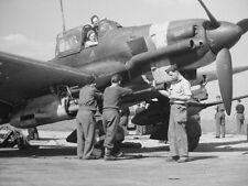 WWII Photo Captured Luftwaffe Ju87G  Stuka  Junkers WW2 B&W World War Two / 6079