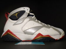 RIGHT SHOE ONLY NIKE AIR JORDAN VII 7 RETRO USA OLYMPIC WHITE RED GOLD BLUE 10.5