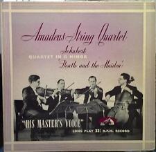 AMADEUS QUARTET schubert death & maiden LP VG+ LHMV 1058 Vinyl 1954 Record