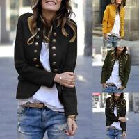 Mode Femme Manteau Personnalité Manche Longue Poche Casuel Loose Veste Plus