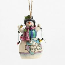 Jim Shore HWC 2016 Snowman Wrapped In Lights Ornament #4055125 NIB FREE SHIPPING
