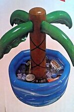 Inflatable Palm Tree Cooler Tropical Luau Hawaii Party Decorations Pool Fun ***