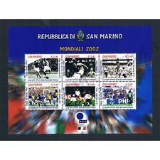 SM1071 - 2002 San Marino Mondiali di Calcio Foglietto MNH/**