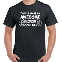 Awesome Electrician -  Mens Funny T-Shirt Sparky Tradesman