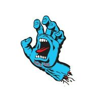 SANTA CRUZ Screaming Hand Decal 6 in Skateboard Sticker BLUE