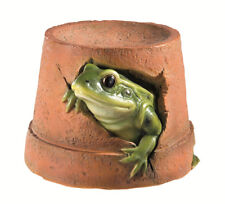 Frog In Flower Pot Garden Ornament