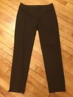 Lafayette 148 New York Brown Cropped Dress Pants, Size 0 NWT! $278