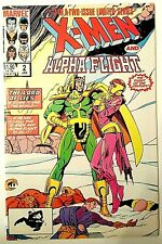 (NM) X-Men & Alpha Flight #2 (1986)!  Wrap-around cover!  Low Starting Bid!!!