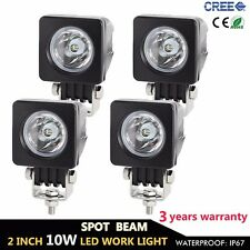 4X 10W Cree LED Work Light Spot Offroad Driving Fog Lamp Motorcycle 4WD UTE 12V