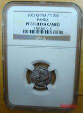2005 China PT100Y 1/10oz platinum panda coin NGC PF68 Ultra Cameo