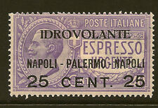 ITALY : 1917 Experimental Air Post  25c on 40c violet SG103 mint