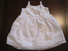 Maggie & Zoe Girls White Embroidered Flower Lace Dress Sundress 6-9 month EUC