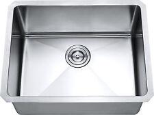 "Z101 - 21"" x 16"" Single Bowl Stainless Steel Hand Made Undermount Kitchen Sink"