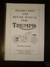 TRIUMPH  M/CYCLE -1946-INSTRUCTION & REPAIR MANUAL