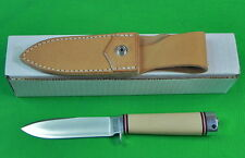 US BLACK RIVER Escanaba MI 1 Production Run Hunting Knife W/ Sheath Box