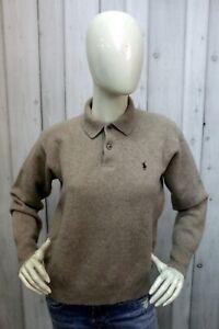 Maglione Ralph Lauren Donna Taglia L Sweater Lana Logo Maglia Woman Manica Lunga