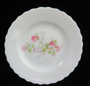 Austrian Porcelain Pink Floral Butter Pat
