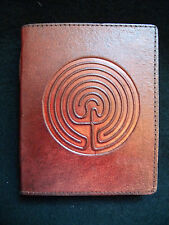 Pagan Wicca LABYRINTH Handmade Leather Journal Book of Shadows Grimoire Diary