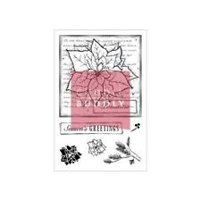 Cuddly Buddly Clear Stamps - Poinsettia Collage CBS0006