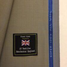 Grey/Sand Super 120's Pure Wool Lightweight Summer Suit Fabric. 240g/260g