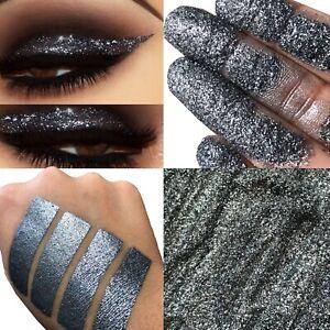 Black Glitter Eyeshadow Pigment Grey Smokey High Shimmer 3D MUA Makeup Dazzle