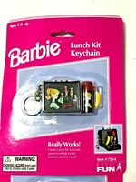 1999 Barbie Lunch Kit Keychain Lunchbox Thermos-New in Package
