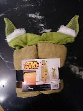 Star Wars Yoda by Disney Hooded Bath Towel Wrap 100% Cotton Kohl's Collection