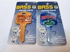 Bass GONE FISHING & BIG BASS 2 BLANK House Keys Kwikset KW1/KW10 Key