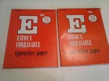 2 EATON's Corrasable 25% Rag Typewriter Paper Medium Erasable 16# 81/2x11 USA