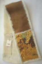 UGG® Australia 4 Panel Gold Sequin Shearling Chestnut UGG Scarf