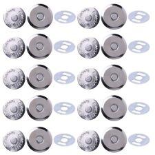 10 Sets Metal Magnetic Snap Clasps 14mm 16mm For Sewing Purse Handbag Bag Craft