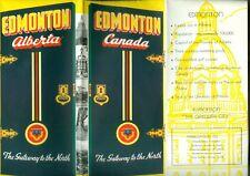 1940s Color Brochure Edmonton Alberta Canada