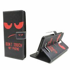 Schutz Hülle für Handy Xiaomi Redmi Note 3 Dont Touch Rot Tasche Wallet Case Neu