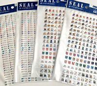 NEW! 4 Sheets Of Kawaii Korean Planner Stickers Morning Glory Lot
