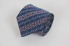 MISSONI Cravate Silk Tie. Blue and Purple Stripes. Made in Italy.