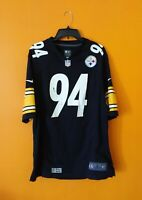 PITTSBURGH STEELERS # 94 LAWRENCE TIMMONS VTG NIKE NFL JERSEY MEN- L