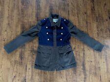 womens River Island military style coat, jacket dark green & navy -  size 10