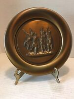 "Vintage Frederic Remington's ""Coming Through the Rye"" Bronze Plate"