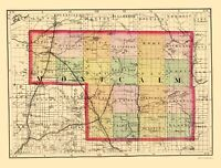Montcalm County Michigan - Walling 1873 - 23.00 x 30.35