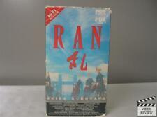 Ran Vhs Tatsuya Nakadai, Akira Terao, Jinpachi Nezu; Akira Kurosawa; Eng Sub